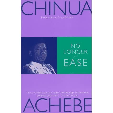 no longer at ease His works include things fall apart, arrow of god, no longer at ease, a man of the people, anthills of the savannah, and there was a country he also wrote four children's books including chike and the river and how the leopard got his claws.