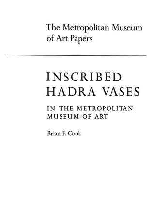 Inscribed Hadra Vases in The Metropolitan Museum of Art