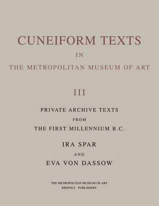 Cuneiform Texts in The Metropolitan Museum of Art Volume II Literary and Scholastic Texts of the Fi