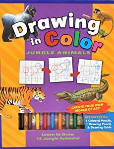 Drawing in Color: Jungle Animals [With Drawing Pencil, 8 Colored Pencils]