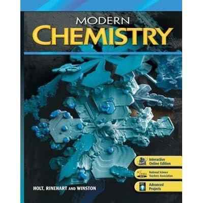 Modern Chemistry By Holt Rinehart And Winston Inc