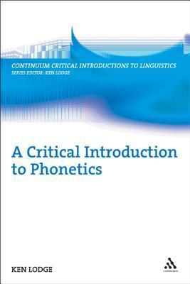 a critical introduction to phonetics