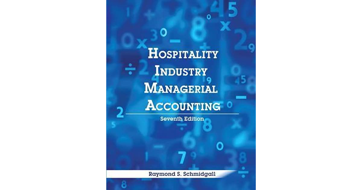 Hospitality Industry Managerial Accounting With Answer Sheet