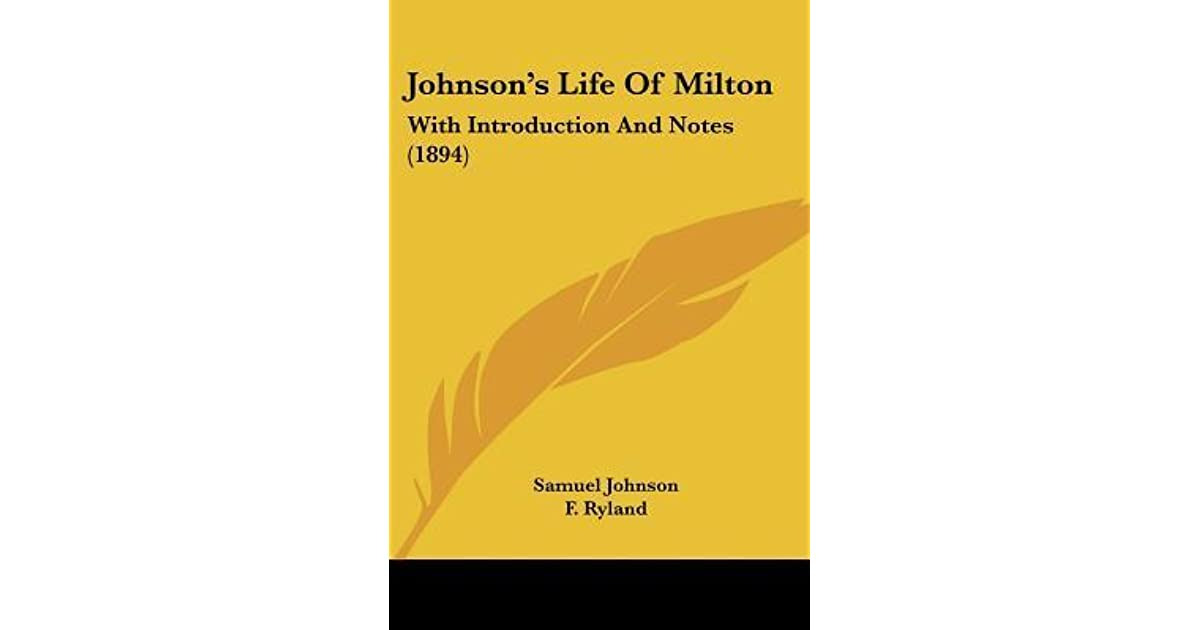 life of milton by samuel johnson sparknotes