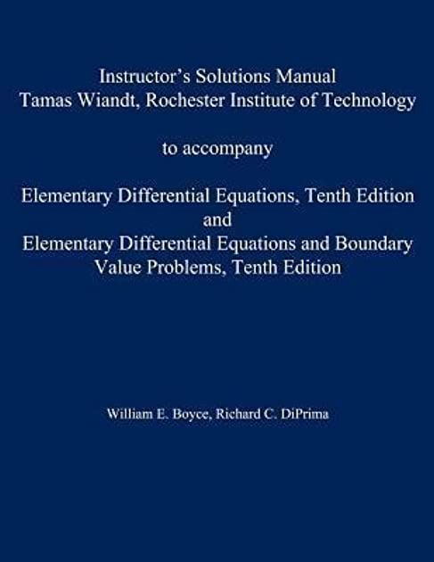 instructor s solution manual to accompany elementary differential rh goodreads com Manual Differential Slide Manual Differential Open