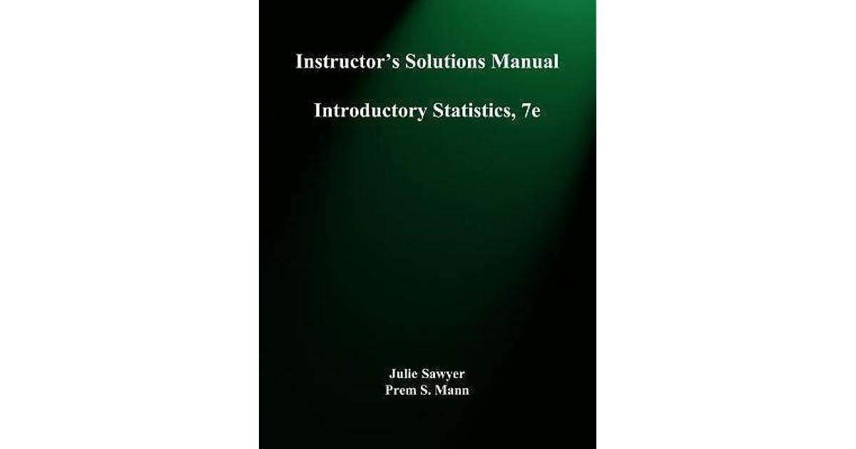 Introductory Statistics Prem S Mann Pdf