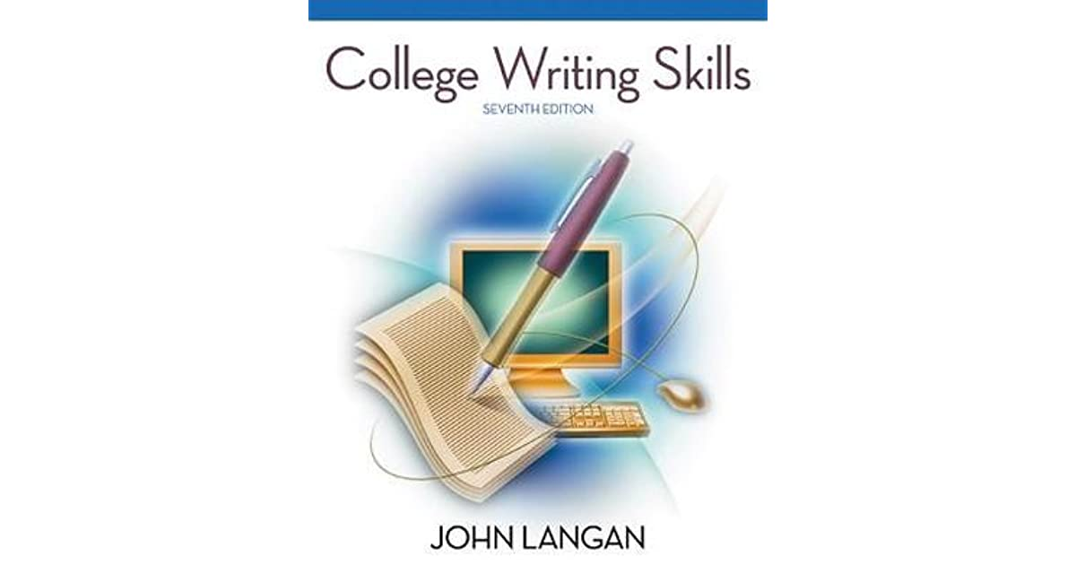 College writing skills by john langan fandeluxe Choice Image