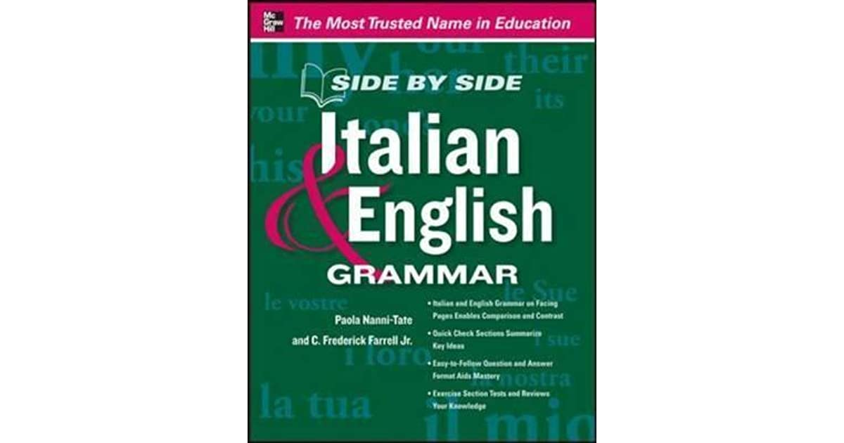 Side By Side Italian And English Grammar By Paola Nanni Tate