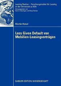 Loss Given Default Von Mobilien-Leasingvertragen