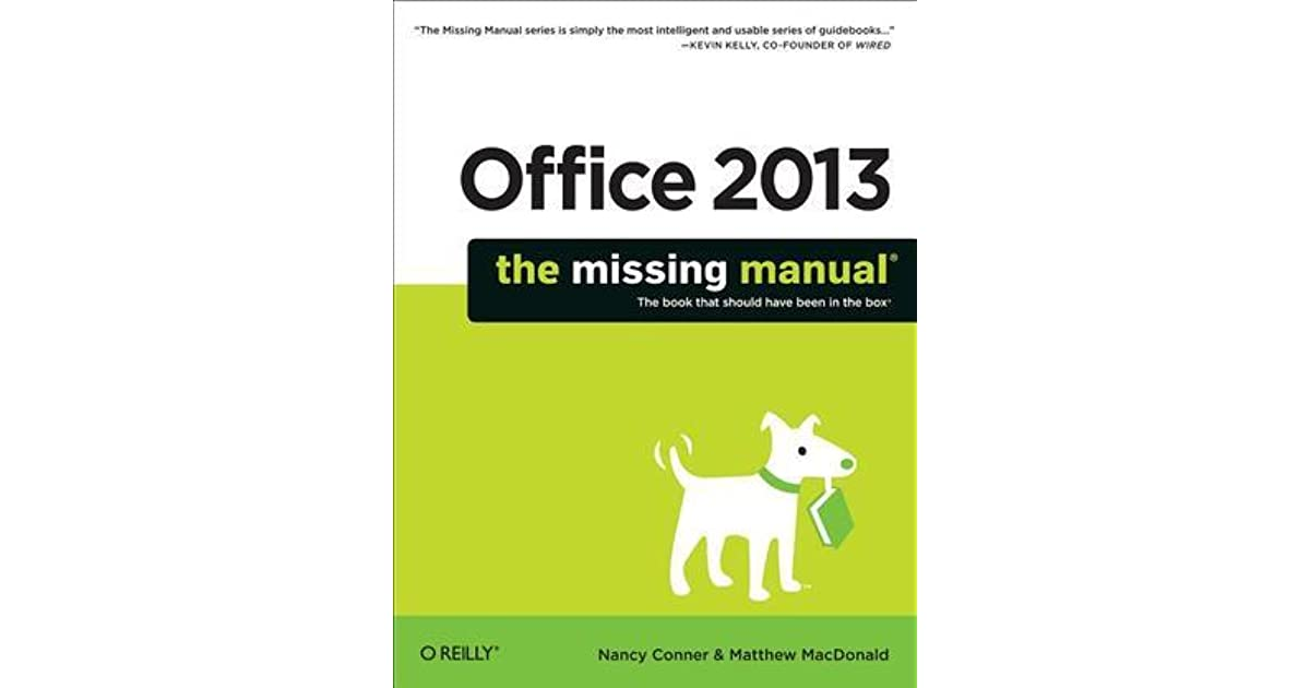 Office 2013 The Missing Manual