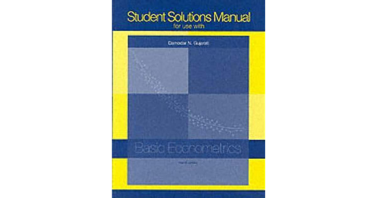 Student solutions manual ta basic econometrics by damodar n gujarati fandeluxe Gallery