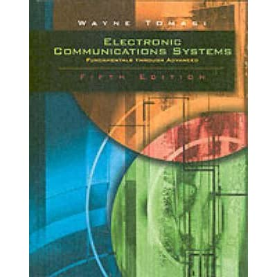 electronic communication systems 5th edition by wayne tomasi pdf