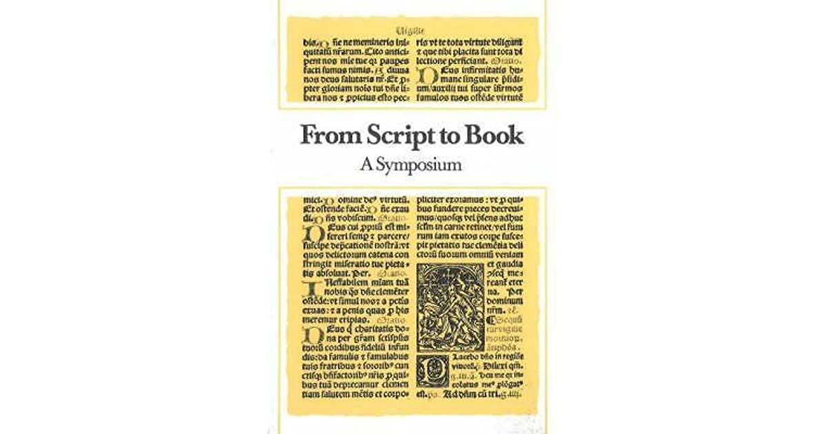 From Script to Book: A Symposium by Hans Bekker-Nielson