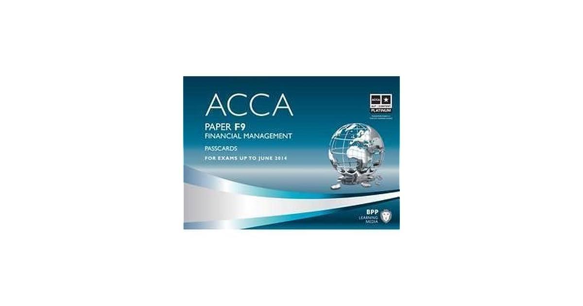 ACCA 2016 BPP PASSCARD F2 - Run