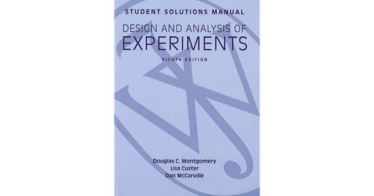 And experiments ebook analysis of design montgomery