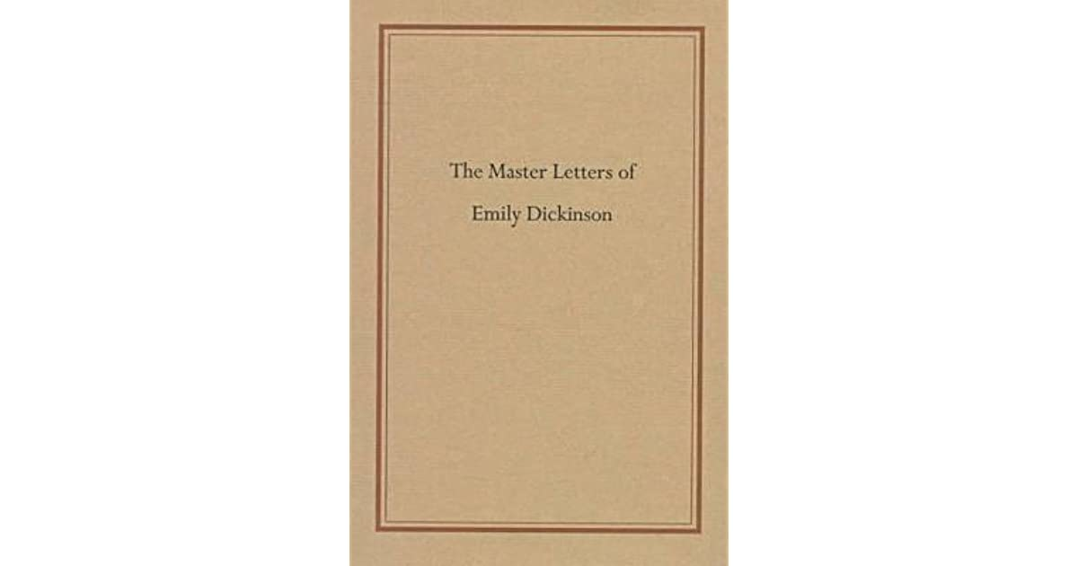 Master letters of emily dickinson by emily dickinson fandeluxe Epub