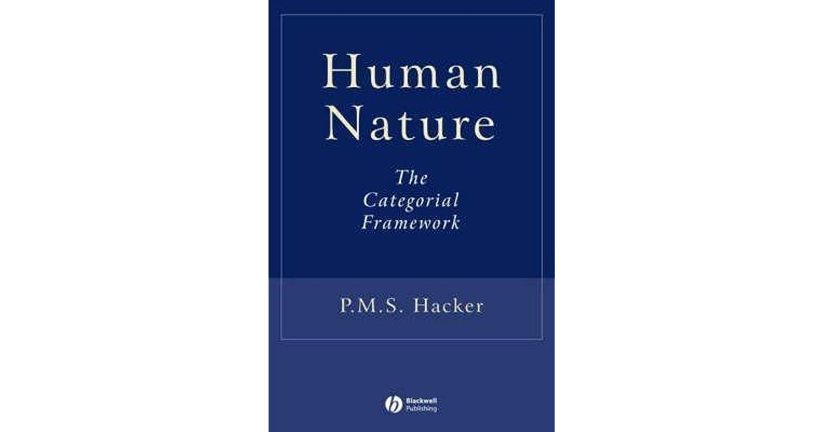 Human Nature: The Categorial Framework
