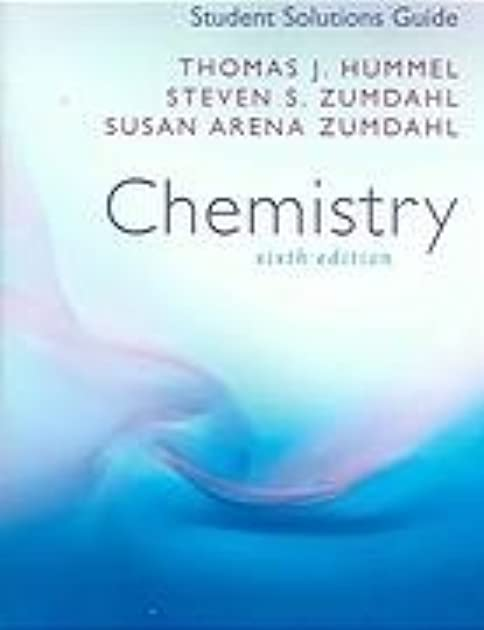 student solutions manual chemistry by steven s zumdahl rh goodreads com Zumdahl Chemistry 9th Edition Online Zumdahl Chemistry Book