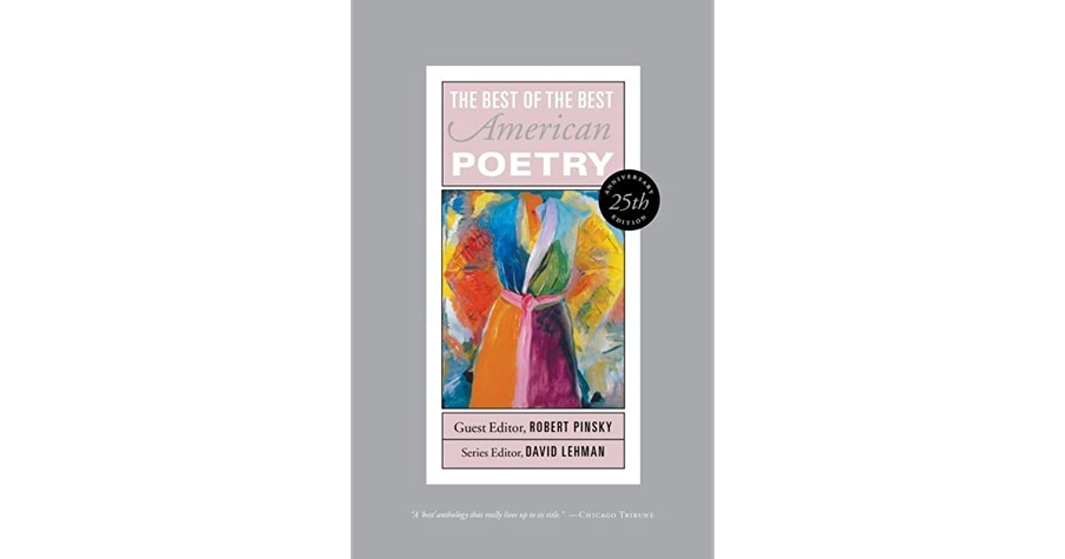 Best of the best american poetry by robert pinsky fandeluxe Ebook collections