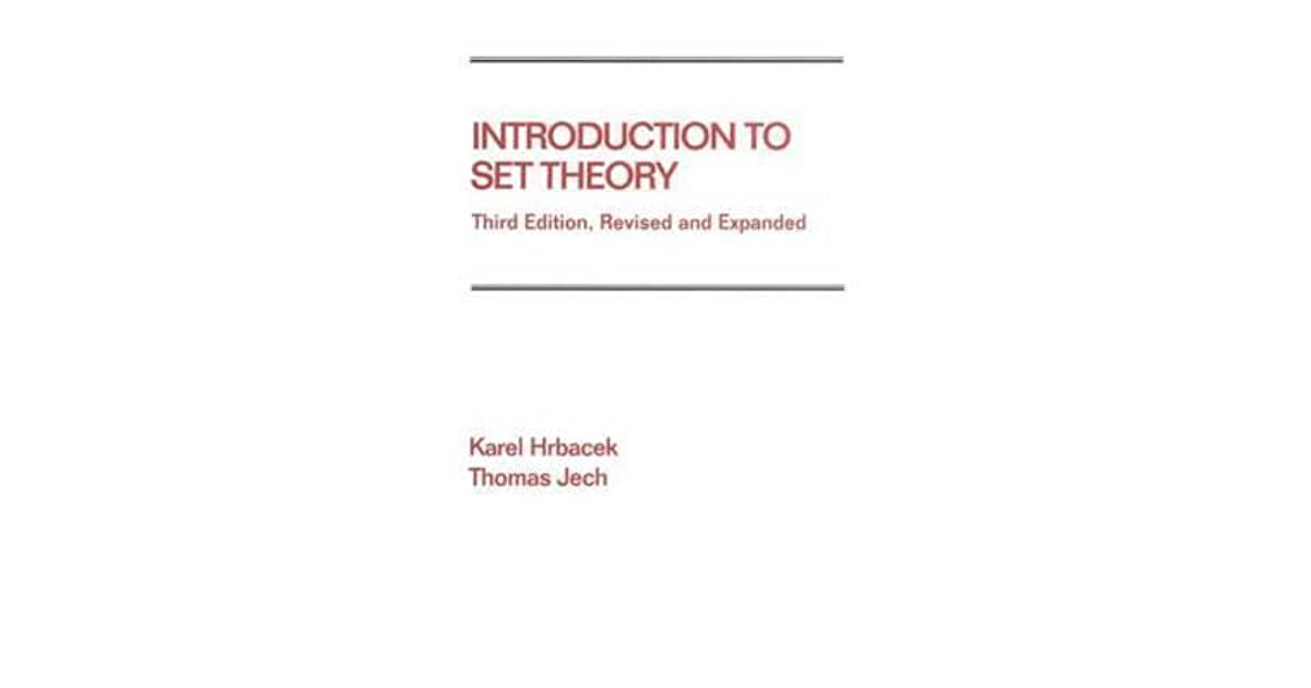 Introduction to Set Theory by Karel Hrbacek