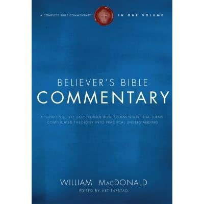 Believers Bible Commentary By Arthur L Farstad