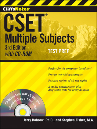 CliffsNotes CSET: Multiple Subjects [with CD-ROM] by Jerry