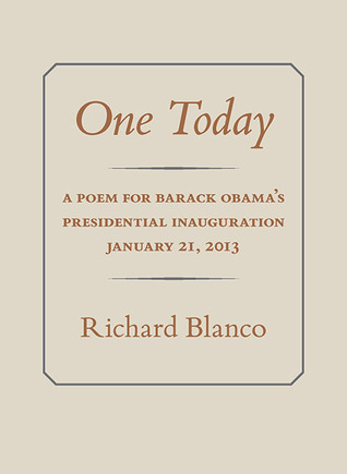 One Today: A Poem for Barack Obama's Presidential Inauguration