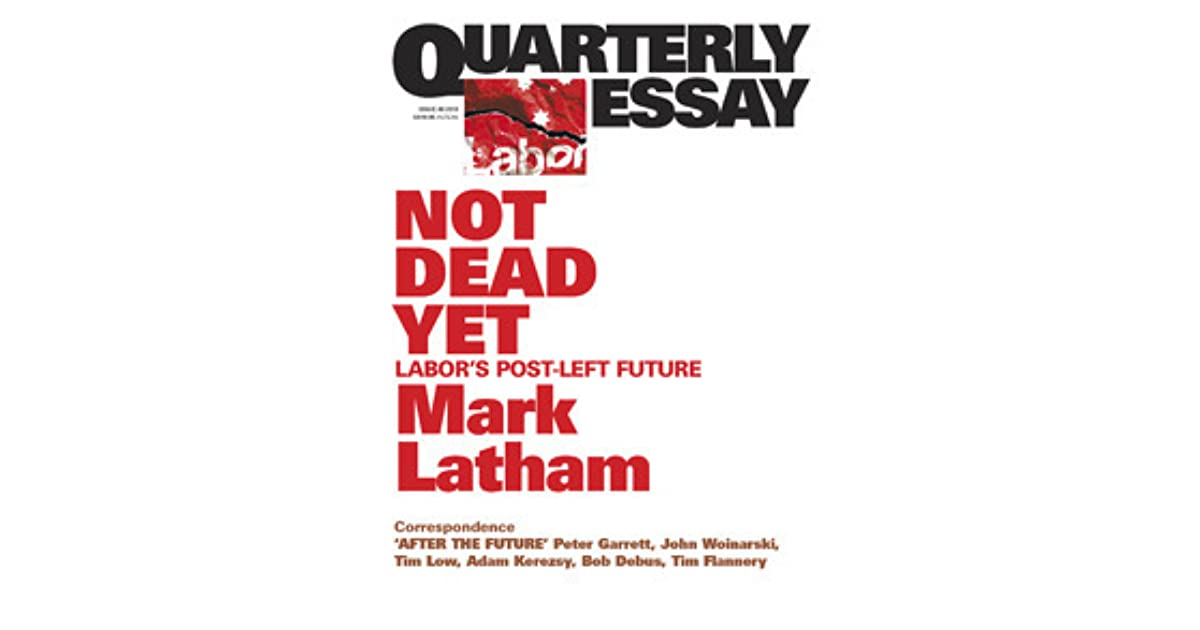 quarterly essay online Open minds quarterly is a glossy 28-page consumer magazine with paid circulation, which features poetry, memoir, fiction, interviews, reviews and other writing and art by people whose experiences are.