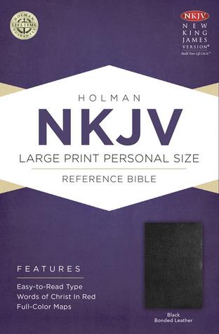 NKJV Large Print Personal Size Reference Bible, Black Bonded Leather