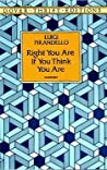 Right You Are ! (If You Think You Are)