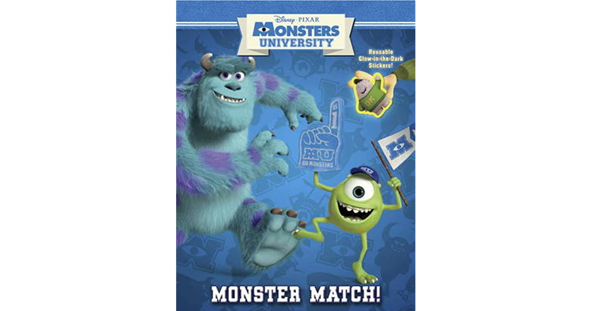 Monster Match Glow In The Dark Reusable Sticker Book By Walt Disney Company