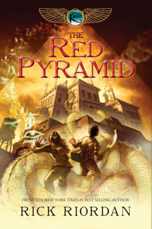 "Book cover of ""The Red Pyramid"" by Rick Riordan"