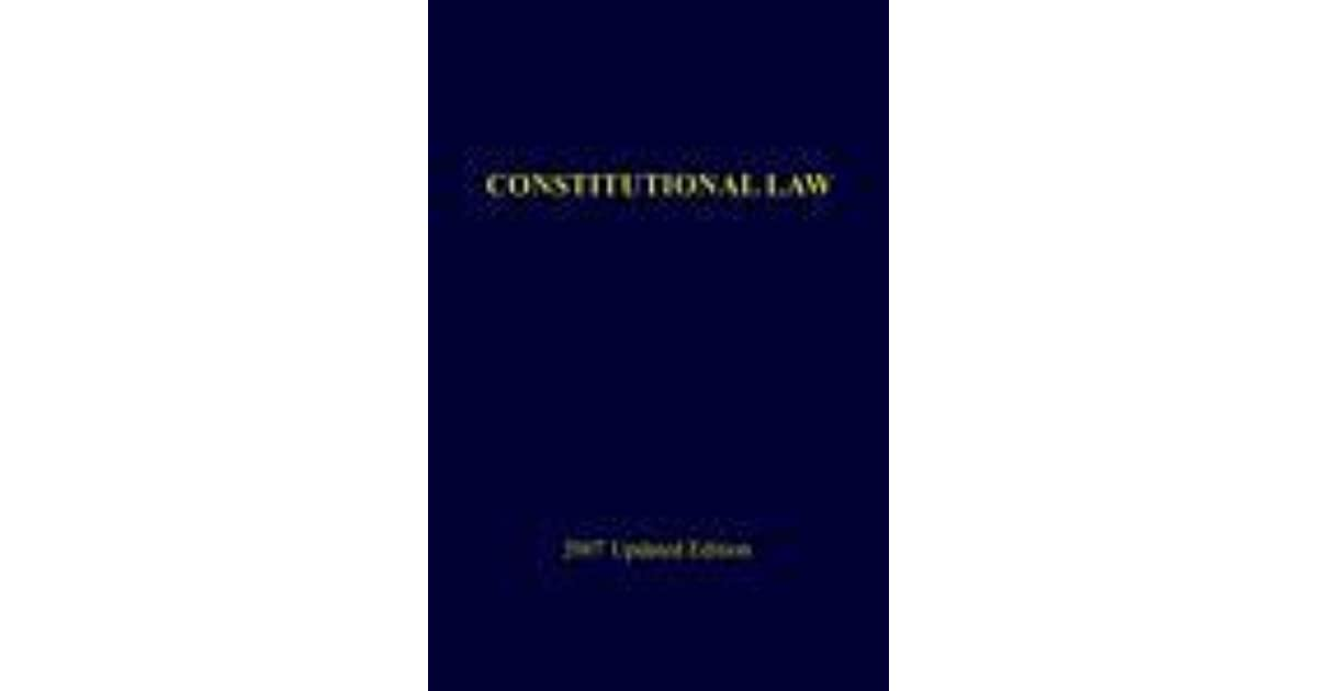 Constitutional Law By Isagani A Cruz