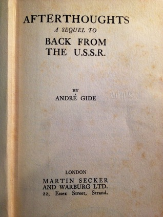 Afterthoughts: A Sequel to Back From the U.S.S.R.