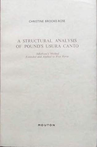 A Structural Analysis of Pound's Usura Canto