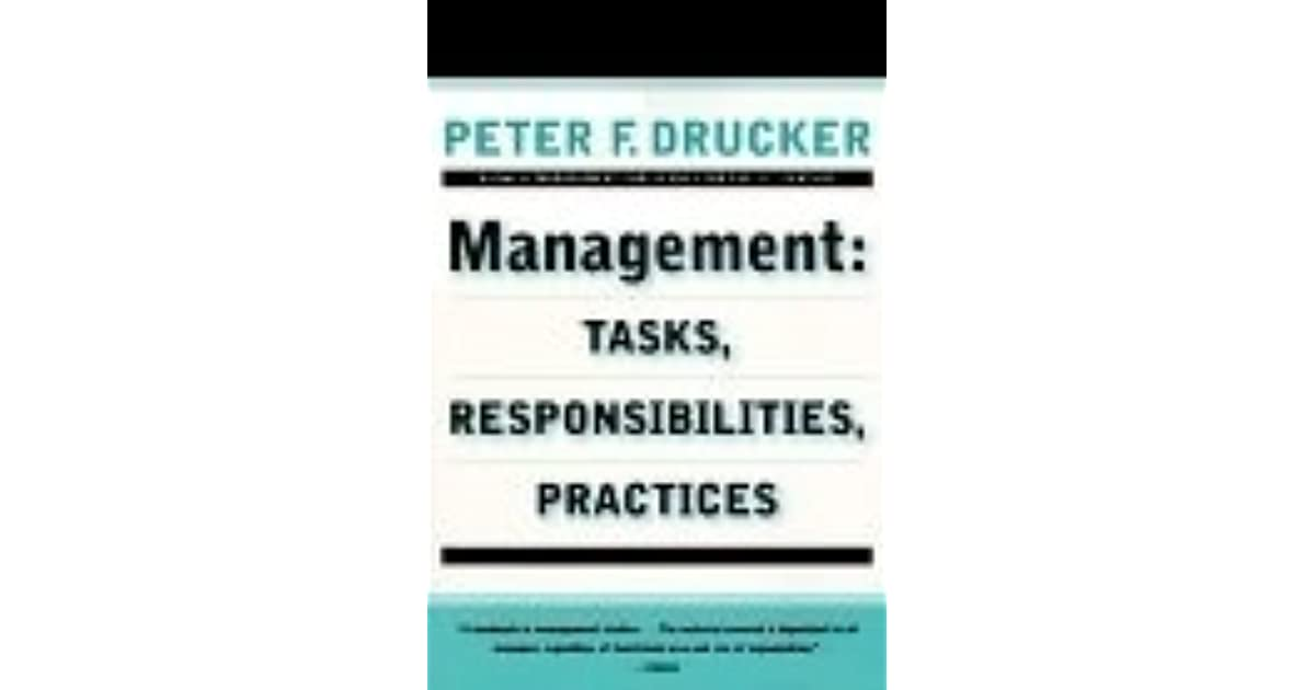 Management tasks responsibilities practices by peter f drucker fandeluxe Images