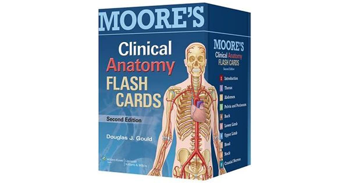 Moores Clinical Anatomy Flash Cards By Not A Book