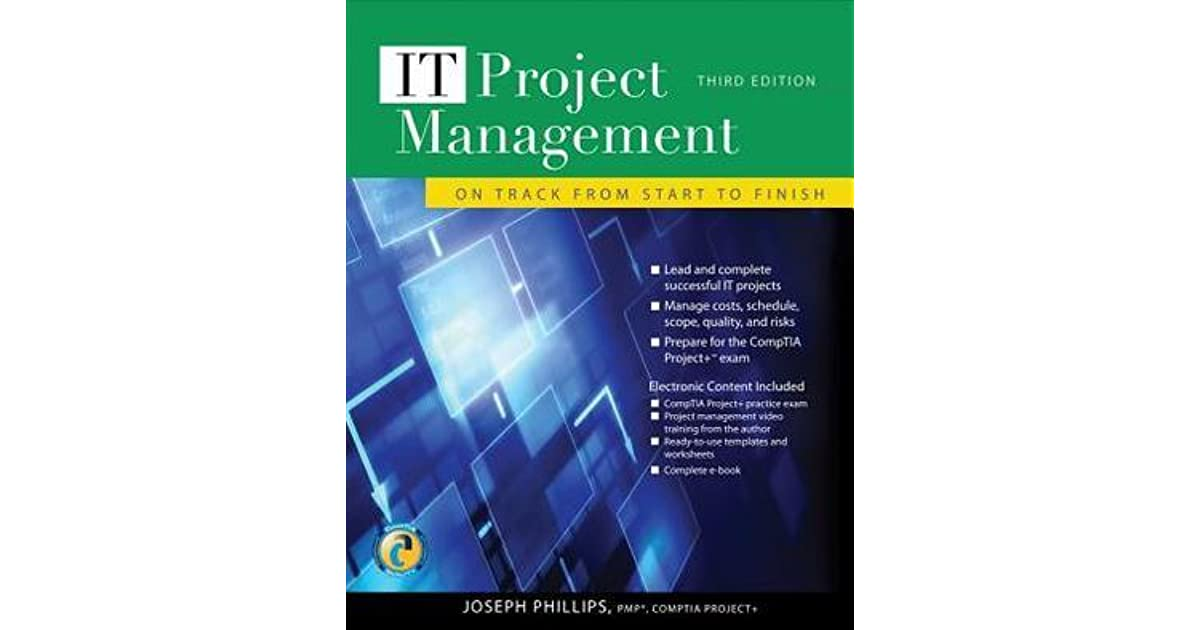 It Project Management On Track From Start To Finish By Joseph Phillips