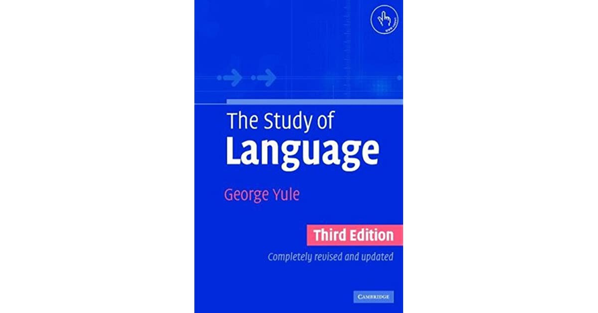 The Study of Language by George Yule