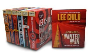 Lee Child CD Audiobook Bundle: Bad Luck and Trouble; Gone Tomorrow; 61 Hours; Worth Dying For; The Affair; Nothing to Lose; A Wanted Man