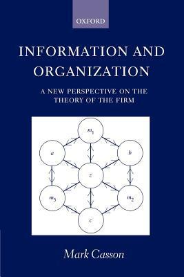 Information and Organization  a New Perspective on the Theory of the Firm  Mark Casson