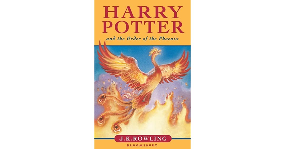 Harry Potter Book By Order : Harry potter and the order of phoenix by j k rowling