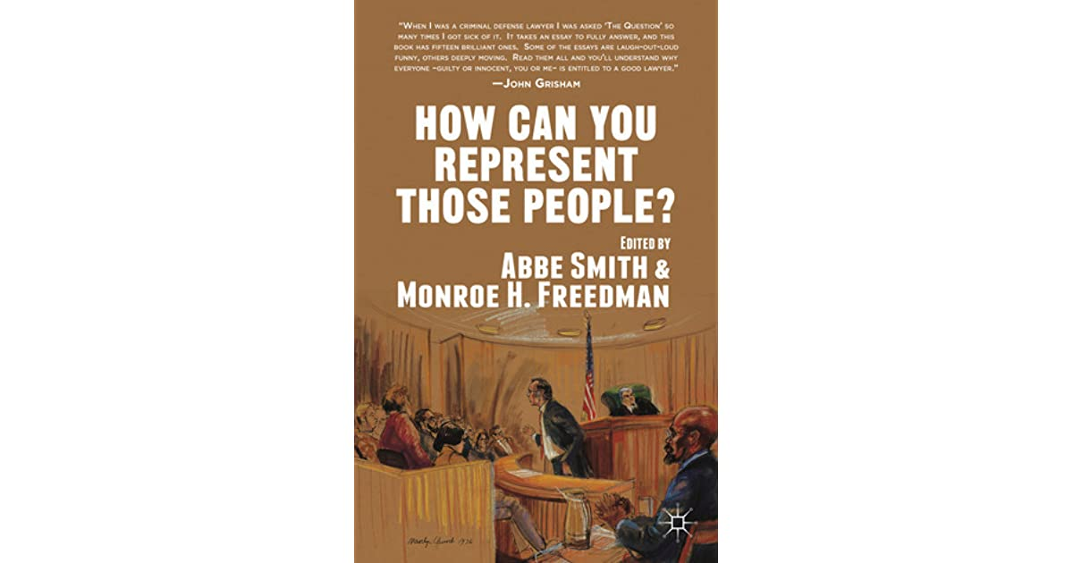 How Can You Represent Those People By Abbe Smith