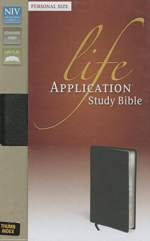 NIV, Life Application Study Bible, Second Edition, Personal Size, Bonded Leather, Black, Red Letter Edition, Thumb Indexed