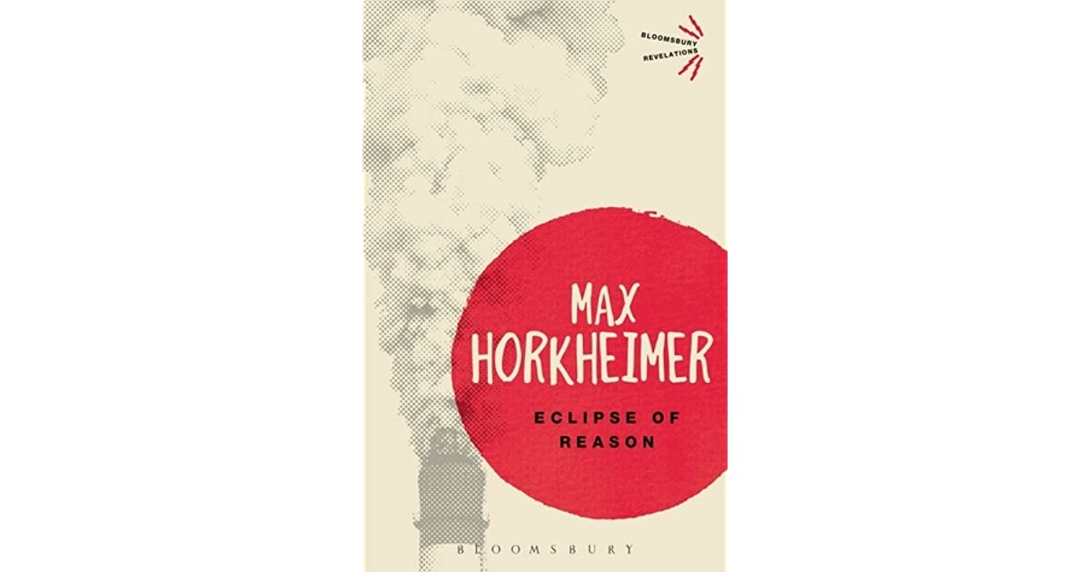 horkheimer eclipse of reason pdf