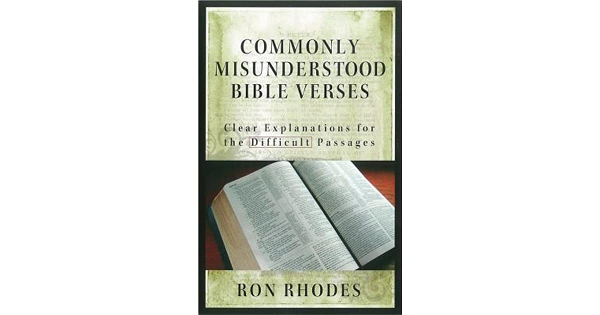 Commonly Misunderstood Bible Verses Clear Explanations For The