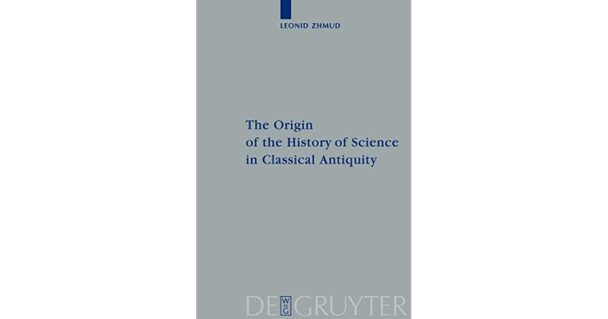 History of science in classical antiquity
