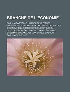 Branche de L'Economie: Economie Agricole, Histoire de La Pensee Economique, Economie de La Culture, Economie Des Organisations, Microeconomie, Economie Du Developpement, Economie Du Travail, Economie Geographique