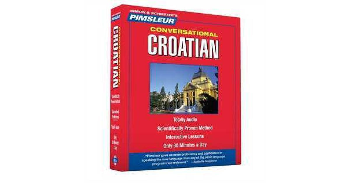 New 8 CD Pimsleur Learn Speak Conversational Croatian Language 16 Lessons