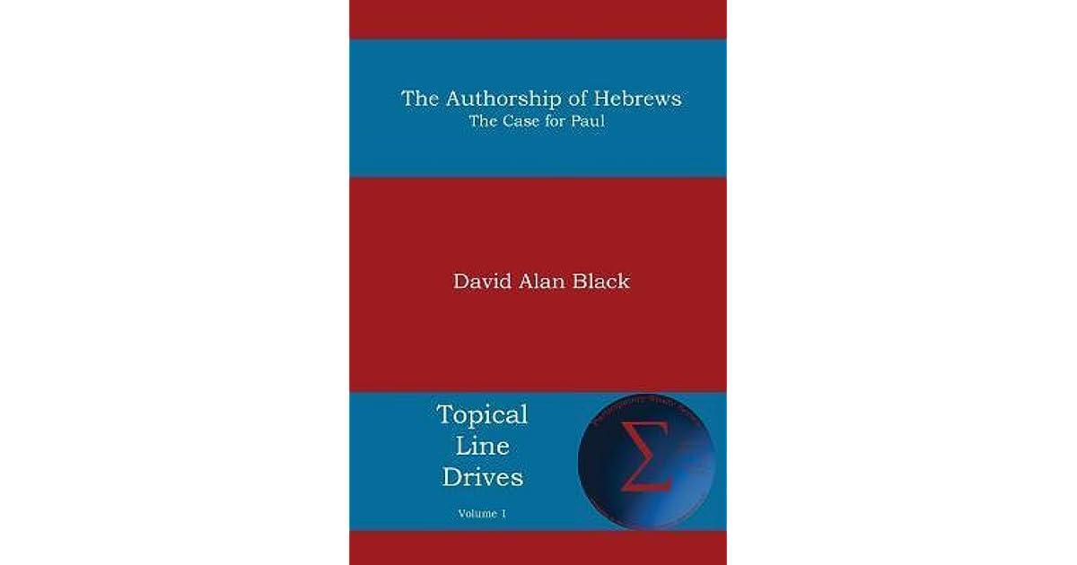 AUTHORSHIP OF HEBREWS PDF DOWNLOAD